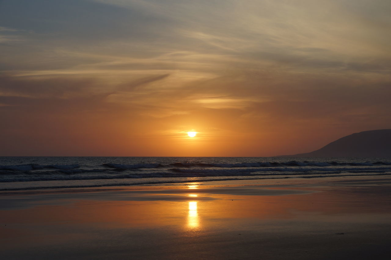 Beach Nature No People Outdoors Reflection Sea Sky Sunset Tranquil Scene