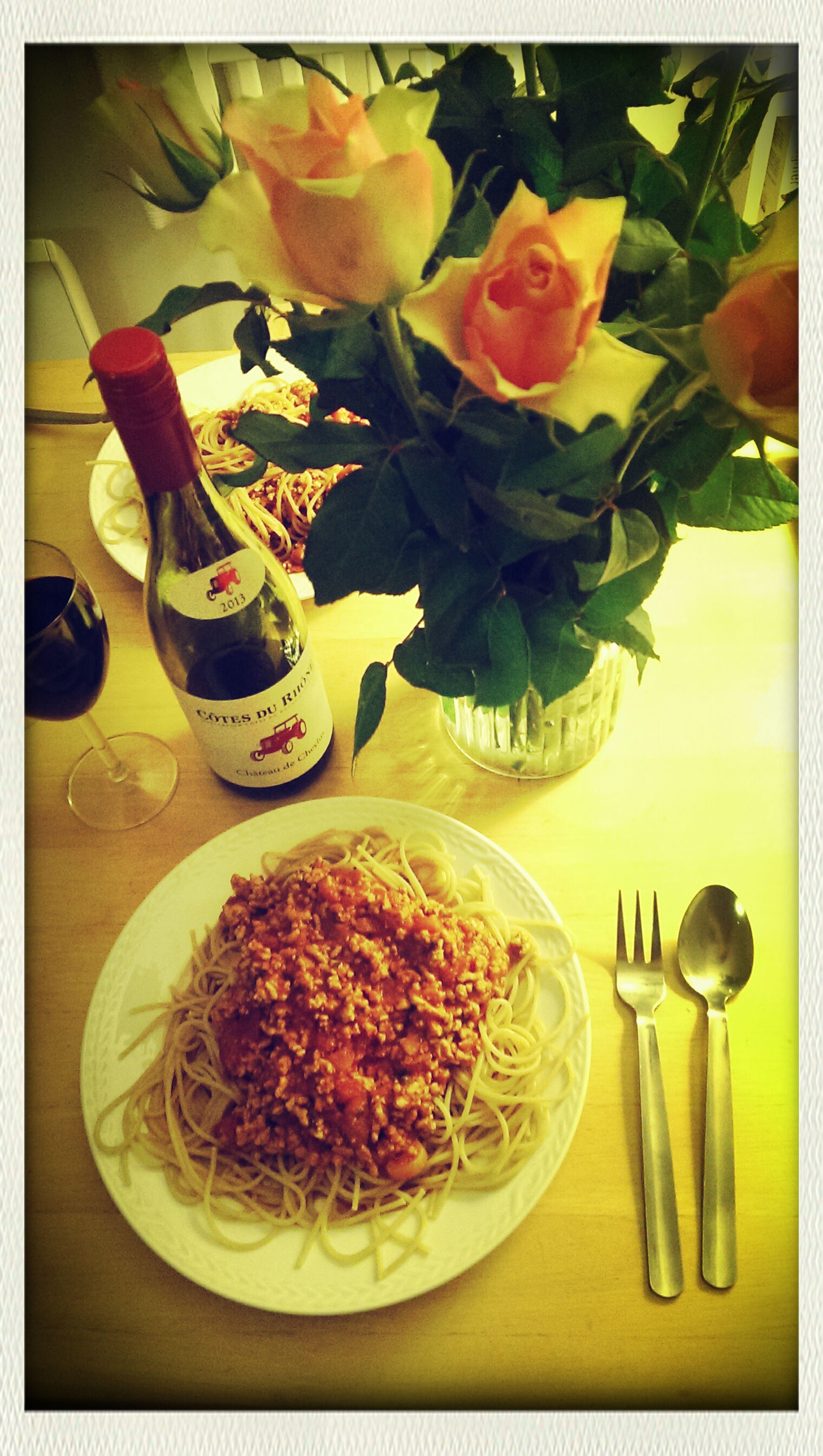 Wine Tasting Spaghetti Romantic❤
