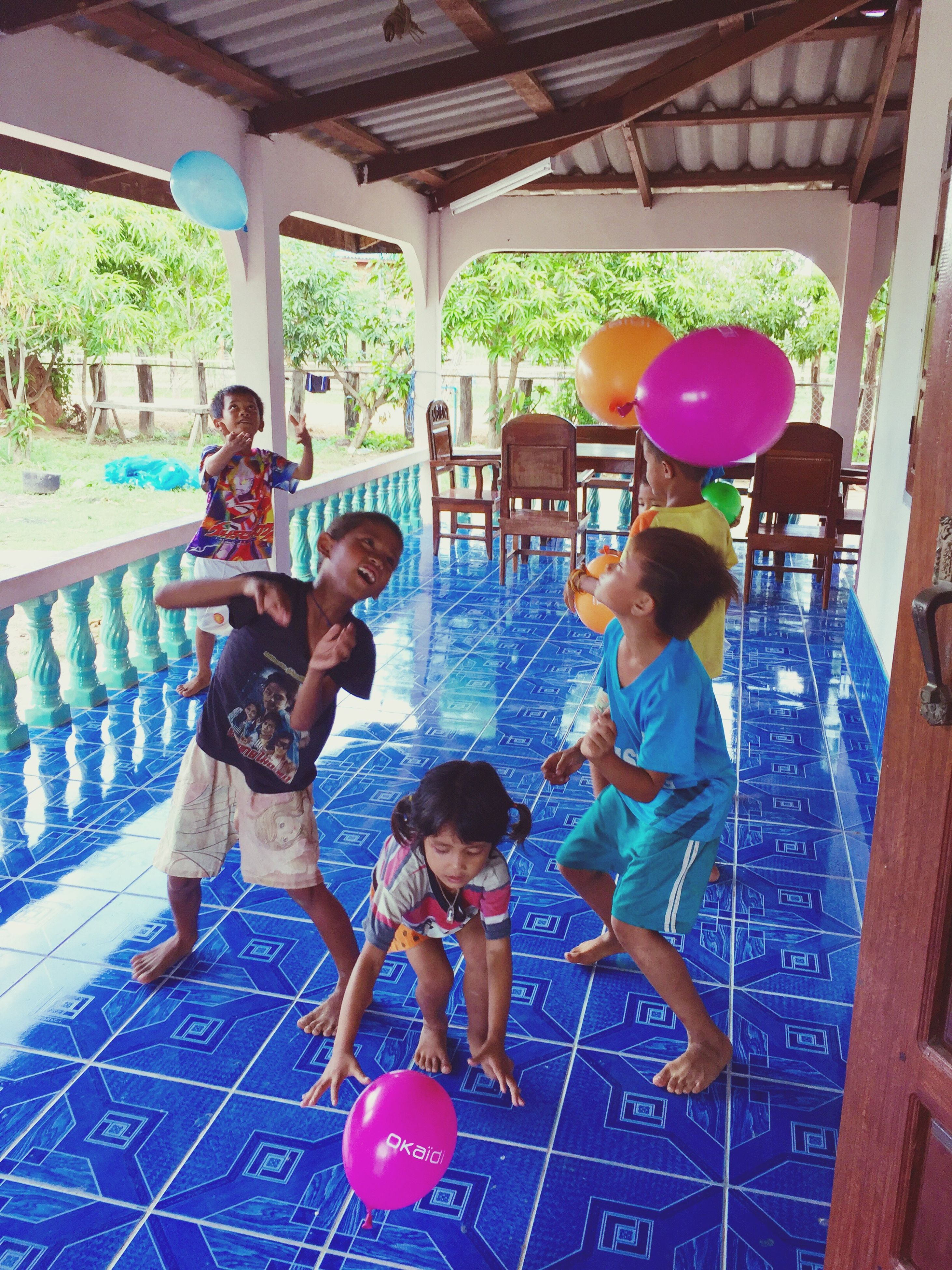 childhood, lifestyles, leisure activity, full length, person, elementary age, girls, casual clothing, playing, fun, boys, enjoyment, happiness, playful, togetherness, cute, playground, smiling