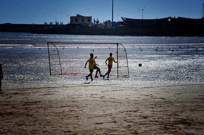 Football Fever Improvised Football Field By The Sea Football Pitch On The Beach On The Sand Footballislife Localscene Local Culture Football Time  Football Is Here Football Game Football Life Sports Photography Sport In The City Sports Creative Light And Shadow - Essaouira Morocco