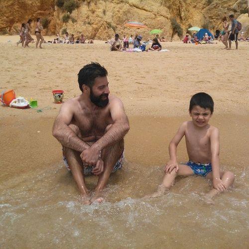 Good times Me Gpoy Beard Kids loveTomé beatch algarve portugal