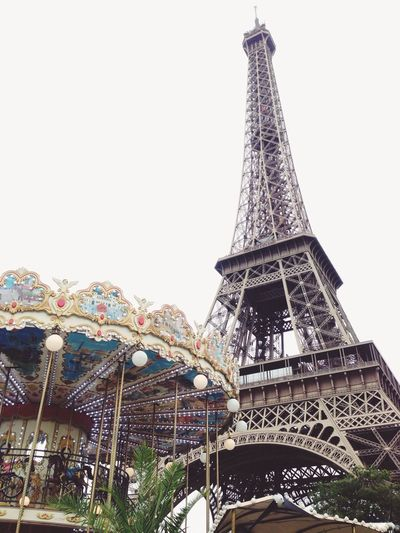 Look Up And Thrive Carrousel Eiffel Tower Paris