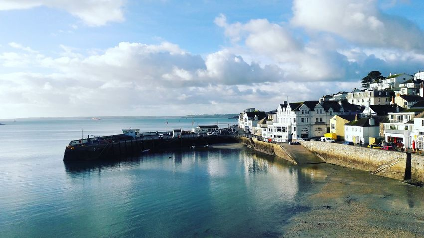 Lovely sunny Saturday St Mawes Harbour England 🇬🇧 Sunny Day 🌞 Sea Clouds And Sky