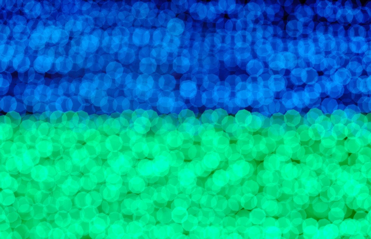Green & Blue Christmas Lights Blue Green Lights Festive Colours Blurry Christmastime