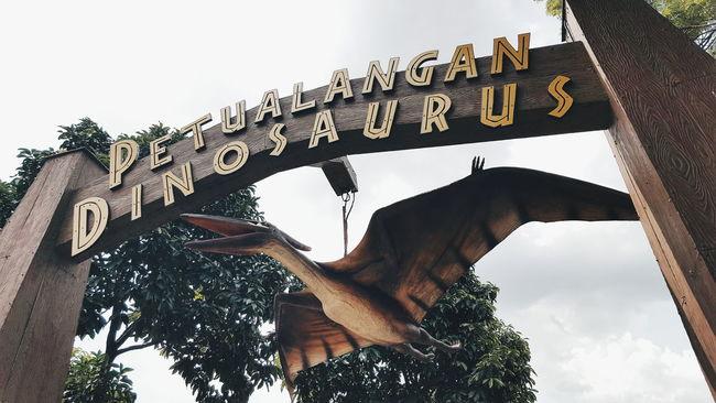 Tourism Low Angle View Architecture Famous Place Travel Destinations Built Structure Travel Sky History Clear Sky Dinosaur Reptile Archeology Jurassic Park Pterodactyl Pterosaur Pteranodon Amusement Park