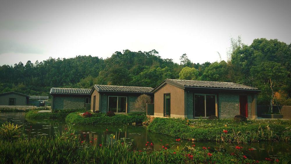 House Architecture Built Structure Building Exterior Cloud - Sky Beauty Sky Nature Old House Village View - Zhuhai, China 竹银水库