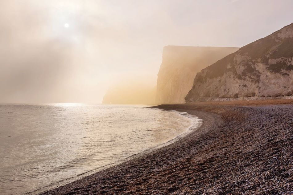 Foggy Afternoon Mist Beach Cliffs Seaside Seascape Fog Shore Nature Beauty In Nature Tranquility Scenics Sea No People Outdoors Paths Rocks Pebbles Water Cliff Edge Calmness Admiring The View Idyllic Moody
