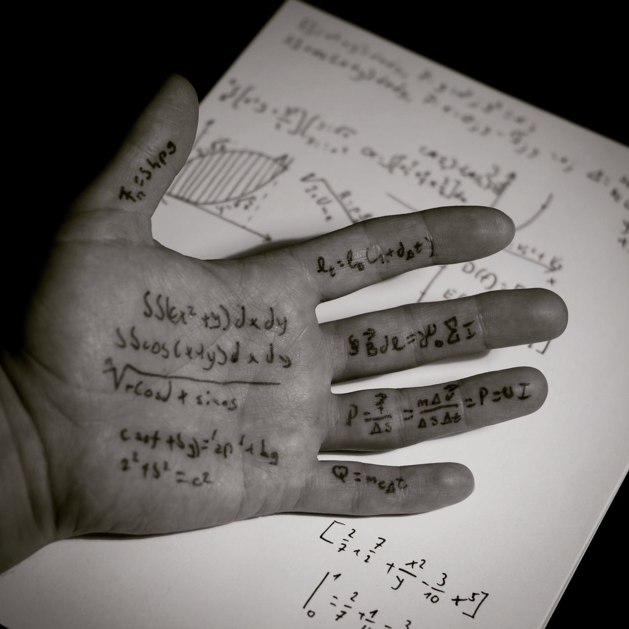 Text Western Script Communication Human Hand Number Paper Human Body Part Message Indoors  Close-up One Person Musical Note Formula Day People Photography Close Up Conceptual Concert Photography Conceptual Art Studio Shot Blackandwhite Blackandwhite Photography Math Hand