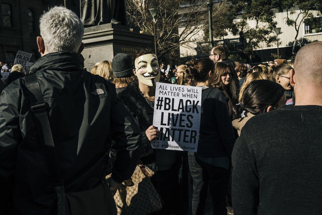 Black Lives Matter rally in Melbourne 17 July 2016 Australia Black Lives Matter City City Life Day Melbourne MelbournePhotographer Men Outdoors Peaceful Protest Photojournalism Protest Rally Reportage Sony Australia SonyA7s Streets Of Melbourne VSCO