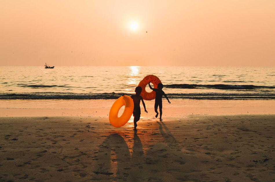 Seas the day⚓ Sunset Beach Outdoors Sea Sand Steps Explore