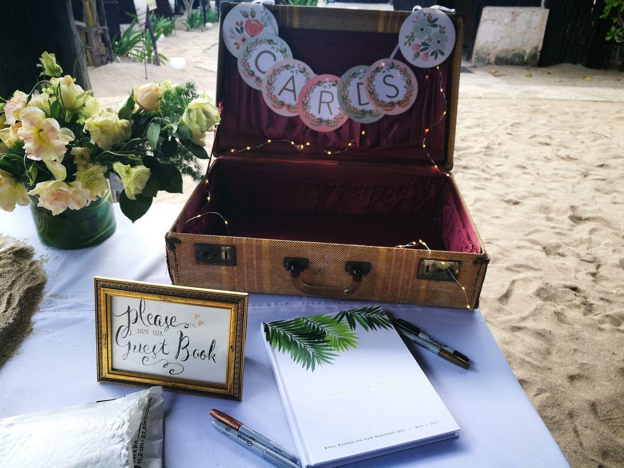 Guest Book  Weddings Reception Welcome Table Beach Wedding