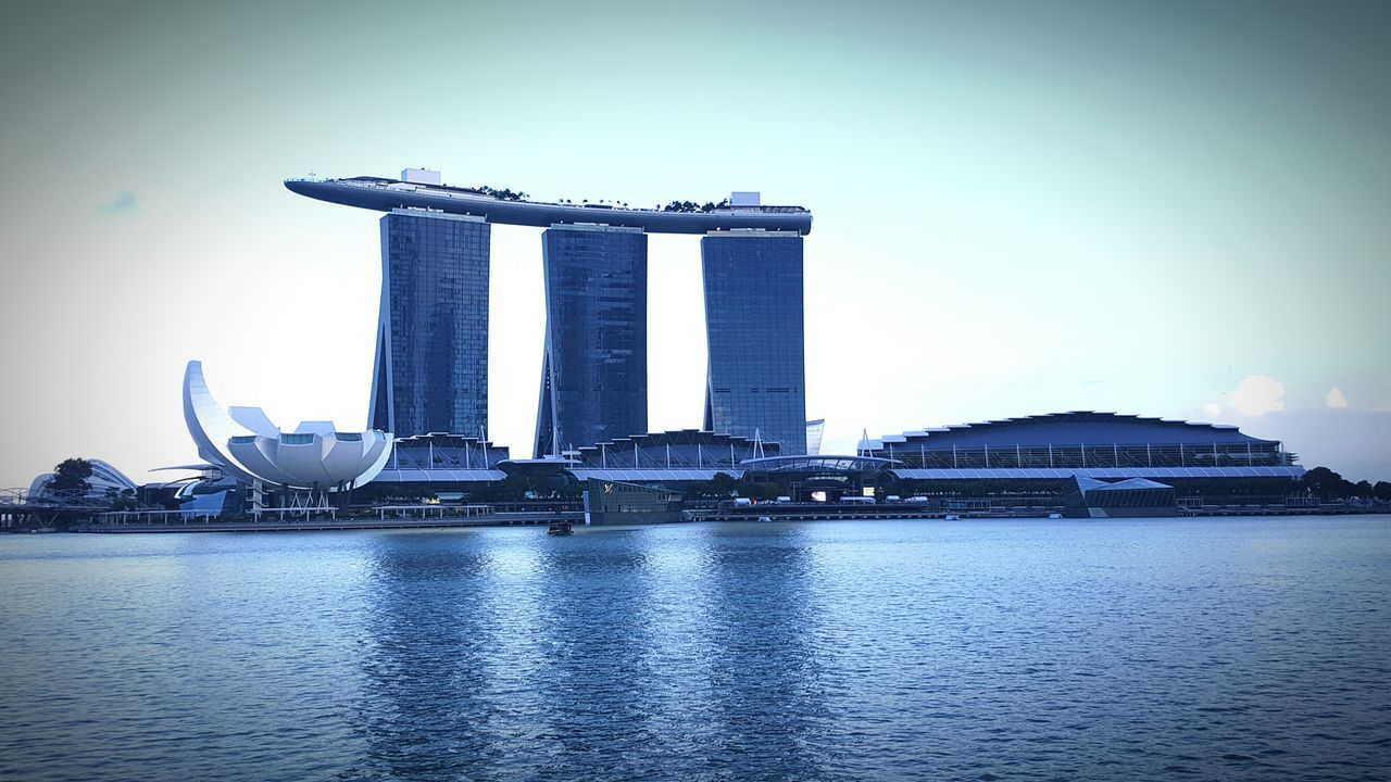 Modern City By Marina Bay Against Sky