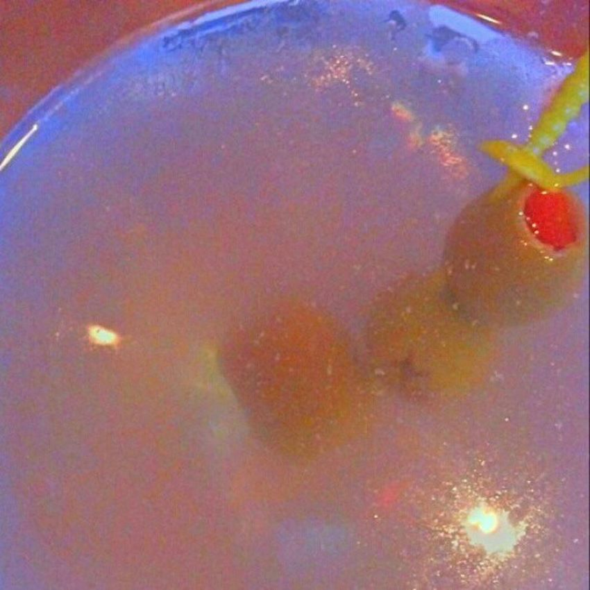 Martinis @buffs with my boy @geofromtexas Olives Vodka Light