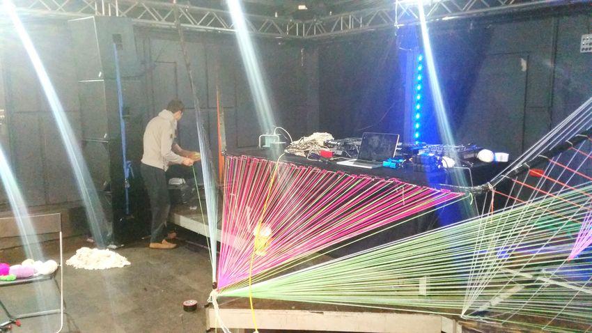 Black Cube Invasion Partydecorations Stringart Psychedelicart Rave Goa Party Trippyart