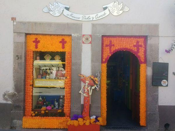 Door Built Structure Window Multi Colored Architecture No People Day Dia De Muertos México Candy Store