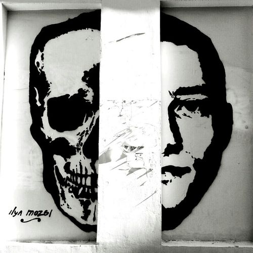 Streetart Man Skull Double Face
