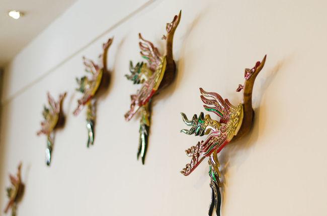 Art Art And Craft Bird Creativity Decoration Fragility Imagination Indoors  Wall Thai Style Thai Art Cutural Arts