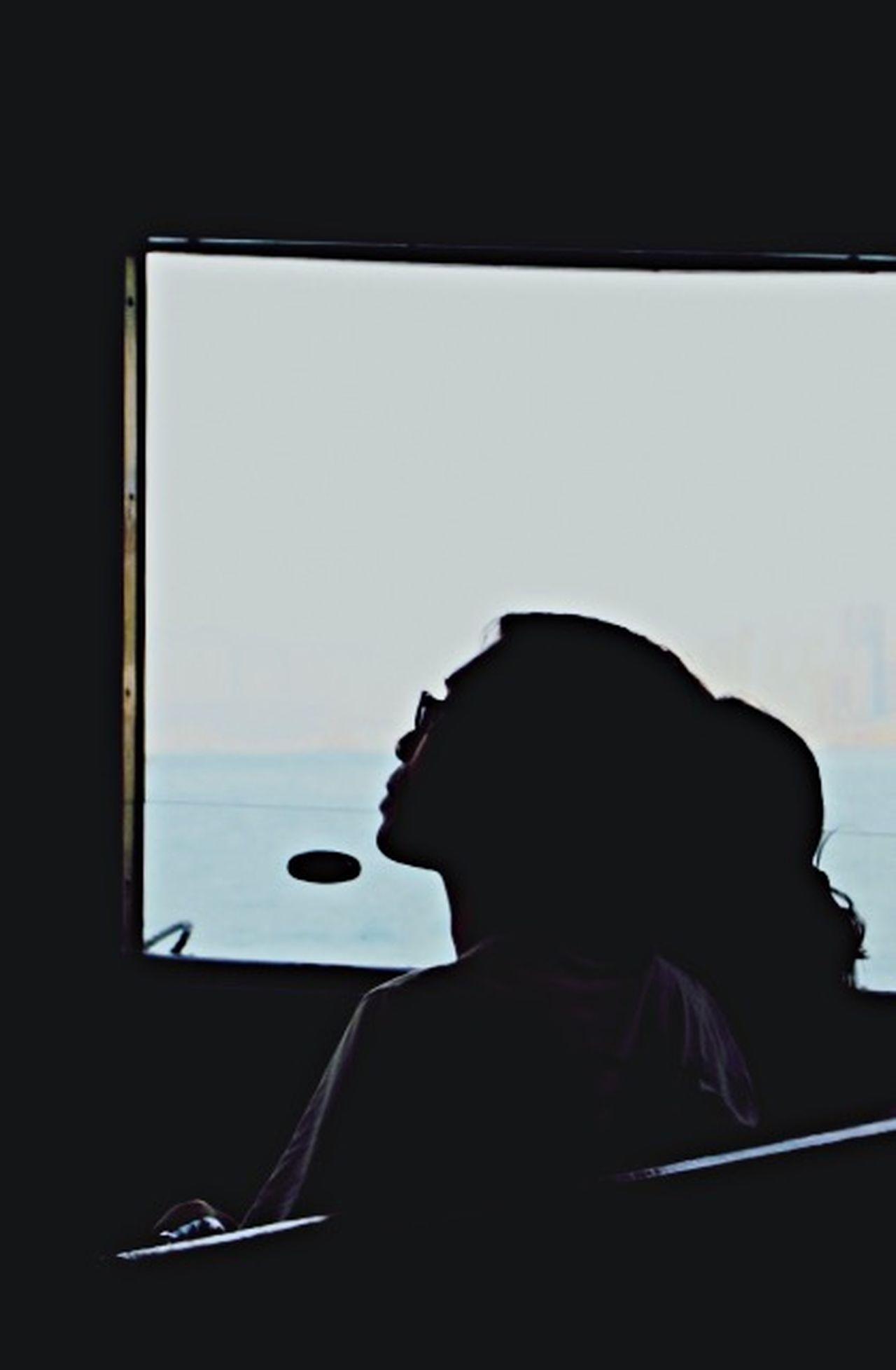 Window Seat Window To The World Starting A Trip Staring People Watching Silouhettes Couple Gazing Sea View