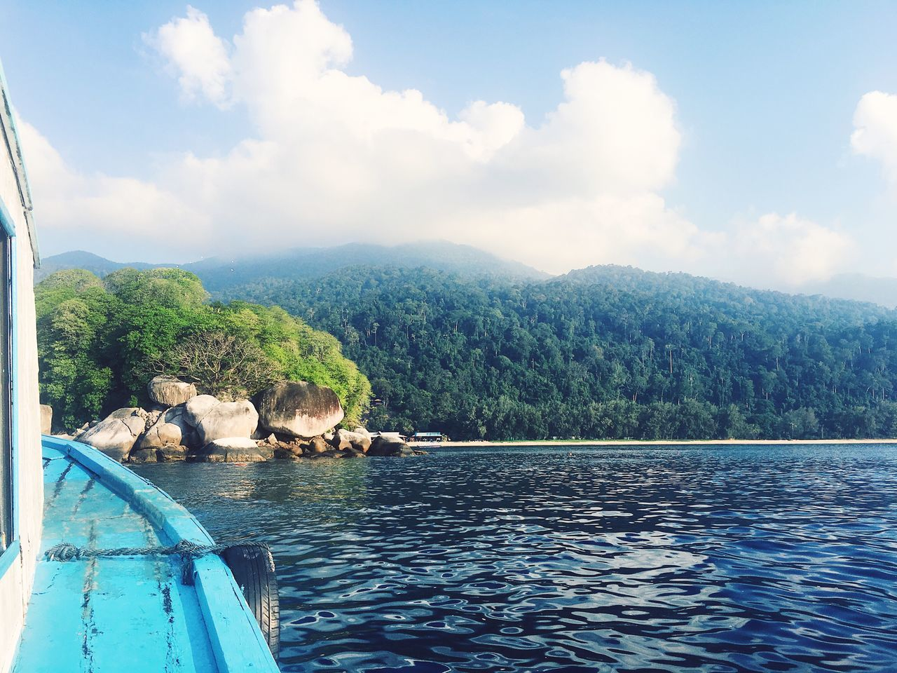 View of the island from the diving liveaboard boat! Dive Island Boat Holiday Water First Eyeem Photo