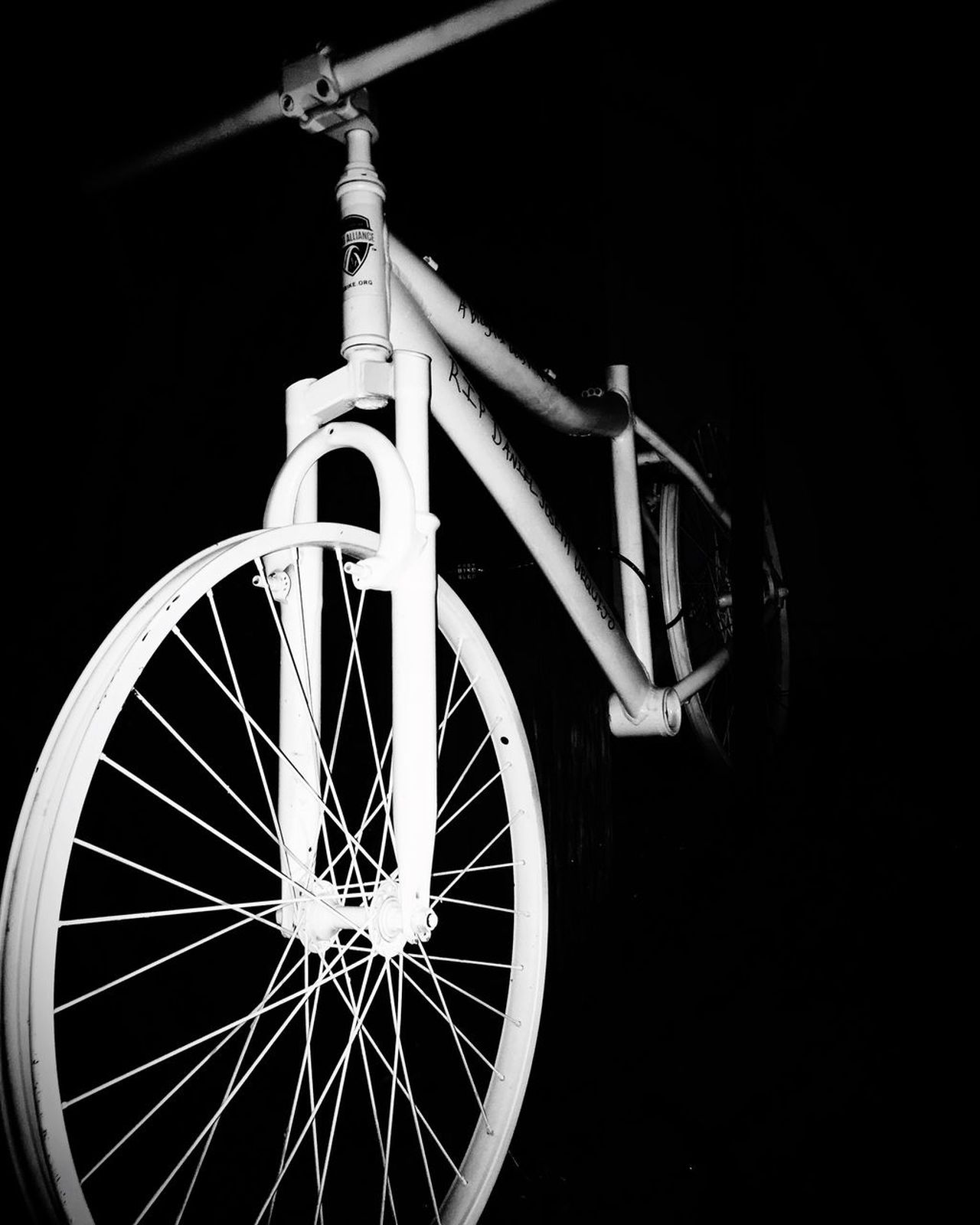 Bicycle Wheel No People Mode Of Transport Black Background Outdoors EyeEm Best Shots EyeEmBestPics EyeEmNewHere EyeEm Photooftheday Photography Blackandwhite Photography Neighborhood Map Black & White Black White Capture The Moment Taking Photos EyeEmNewHere