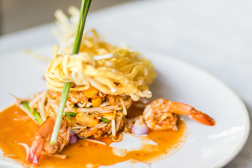 """Thai Fried Noodles """"Pad Thai"""" with shrimp and vegetables Asian Cuisine Asian Food Close-up Cooking Cuisine Delicious Diner Eat Food Food And Drink Freshness Healthy Eating Noodle Pad Thai Plate Restaurant Shrimp Spicy Food Street Thai Food Thailand Traditional"""