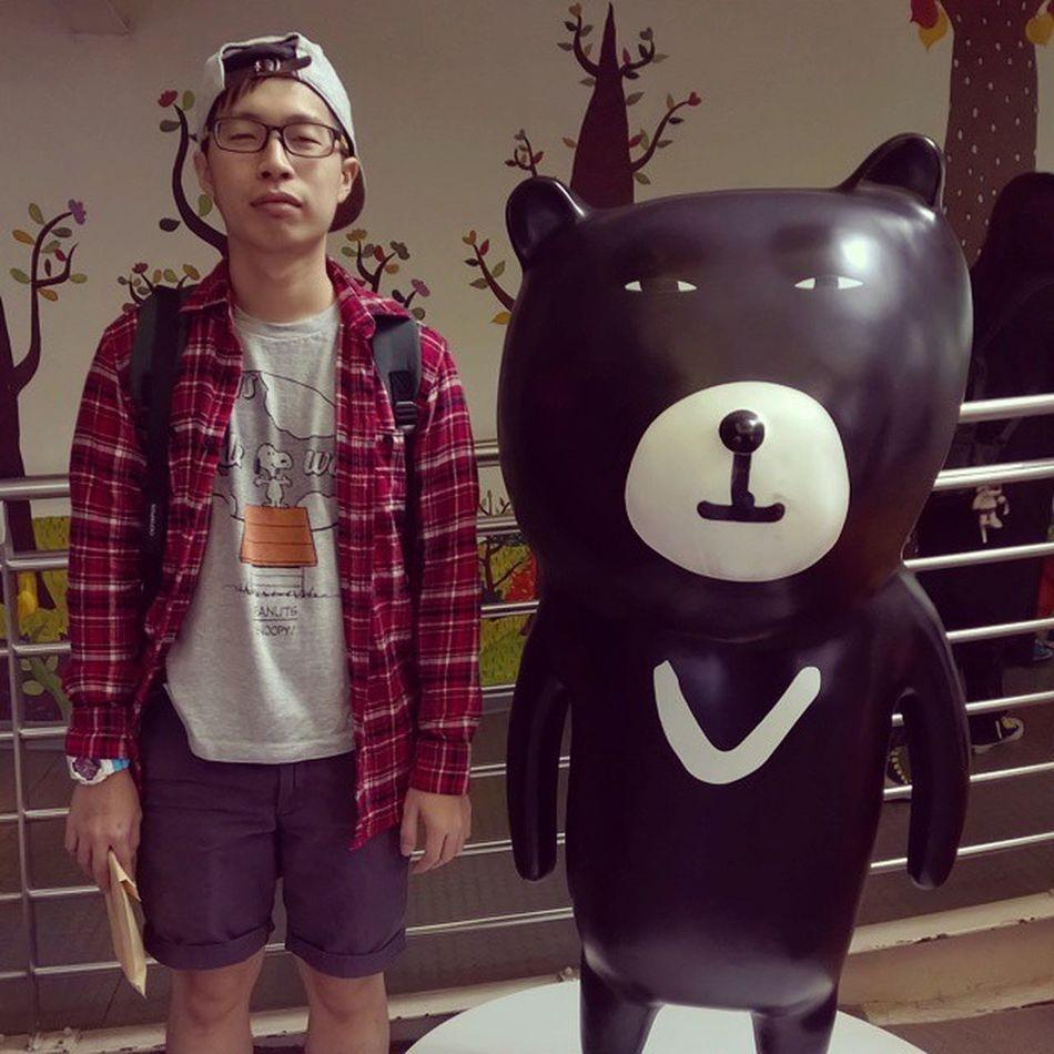 Do i look like bear? Or he looks like me? Throwback Taiwan 11Nov2014 Taipeizoo Lameface Bearandme 台北市立動物園 Imisstaiwan