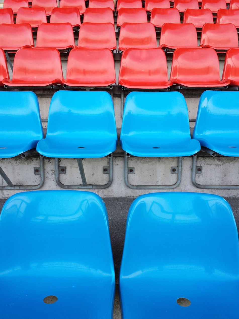 Beautiful stock photos of football, Backgrounds, Bleachers, Blue Color, Conformity