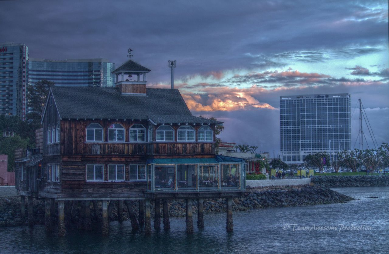 My walk at seaport village san diego after a rain at sunset. Travel Photography Sunny San Diego☀ Pier Walking Clouds And Sky Water_collection EyeEm Best Shots Buildings Blue Wave