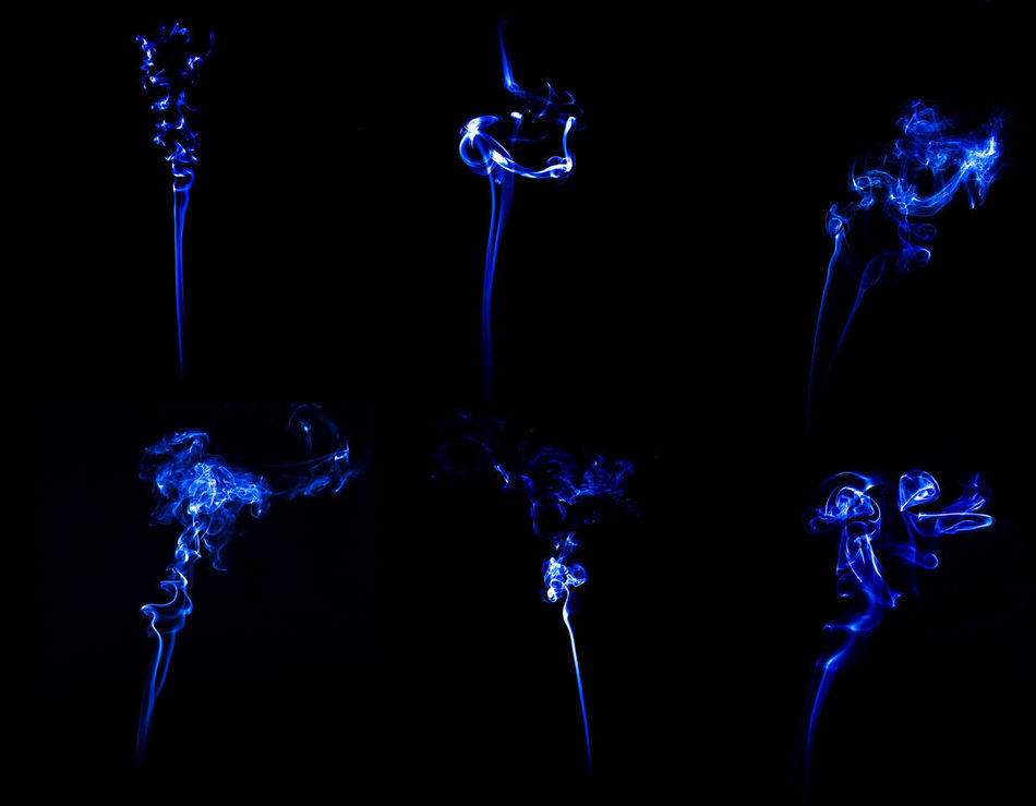 Smoke on black background. Abstract Art Background Black Blue Burning Design Fire Graphic Smoke Spark