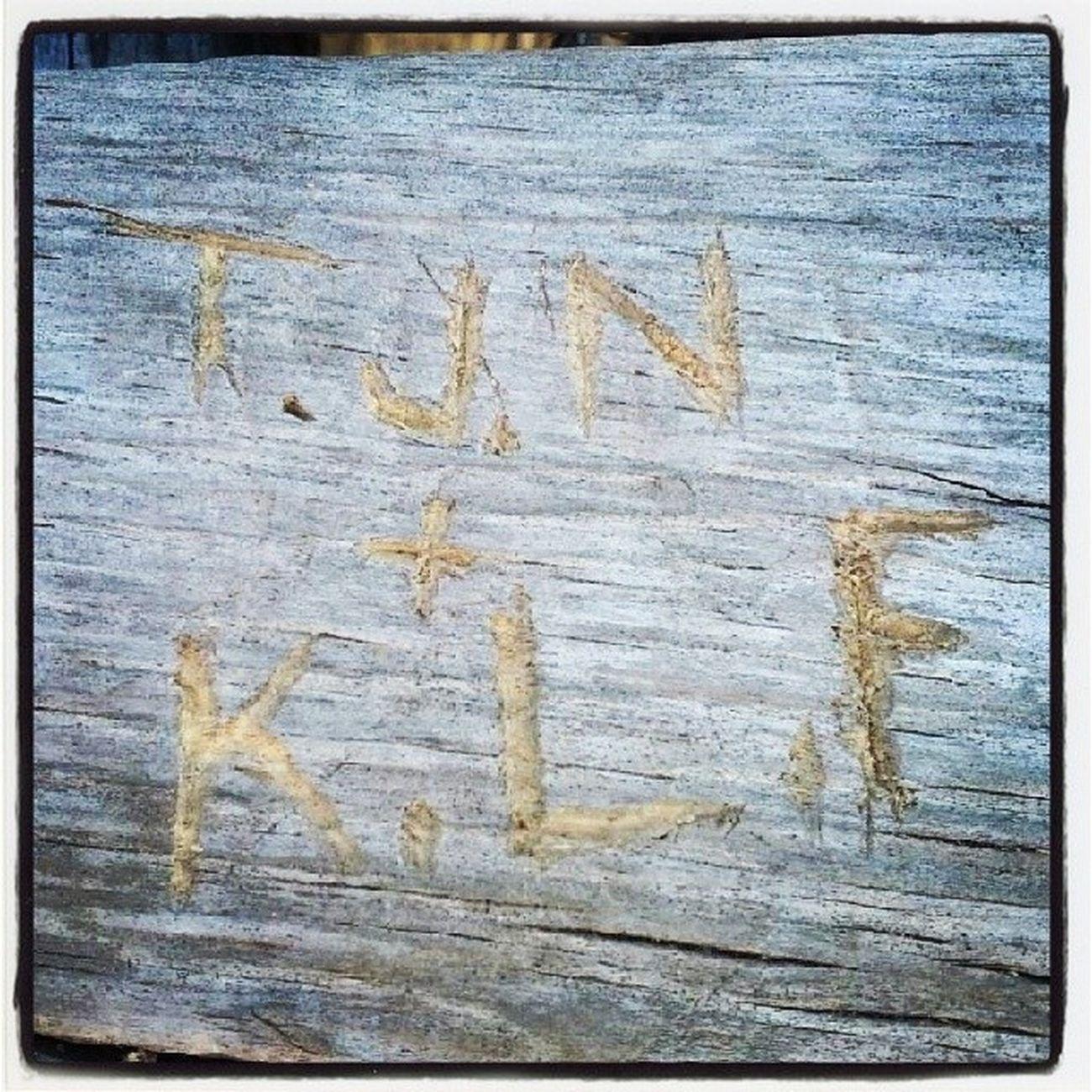 He carved our initials in a bench at the grand canyon Initials Love Interraciallove Grandcanyonvillage grandcanyon az arizona roadtrip couplesweekend mountains canyon coloradoriver tyler tk katlynn boo boof az arizona