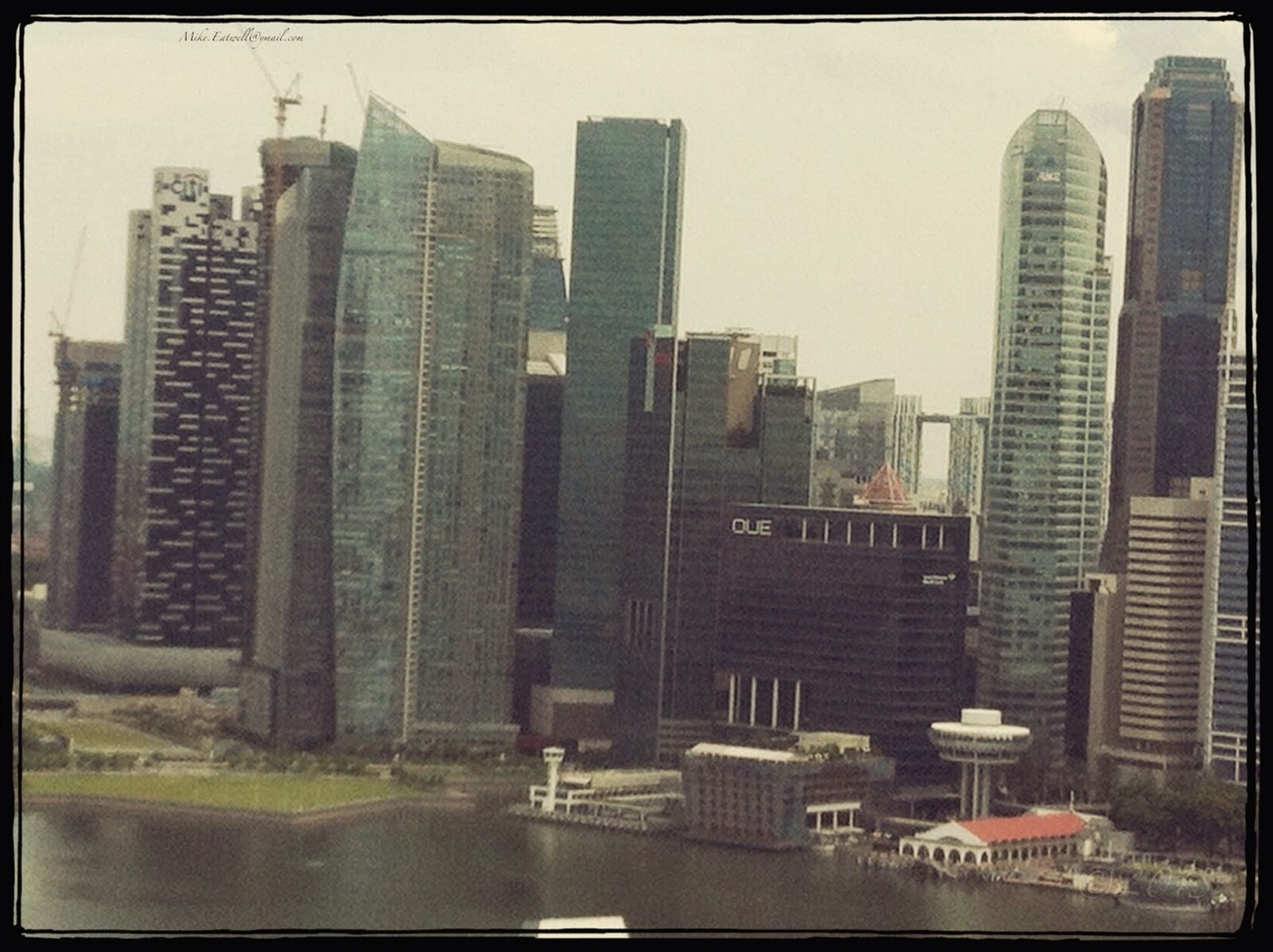 View of Singapore from the Singapore flyer