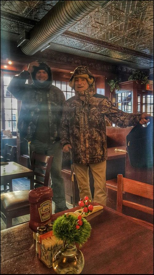 Bob & Me by Todd Camouflaged Full Length Going To Bkfast Indoors  Men Will Be Boyz