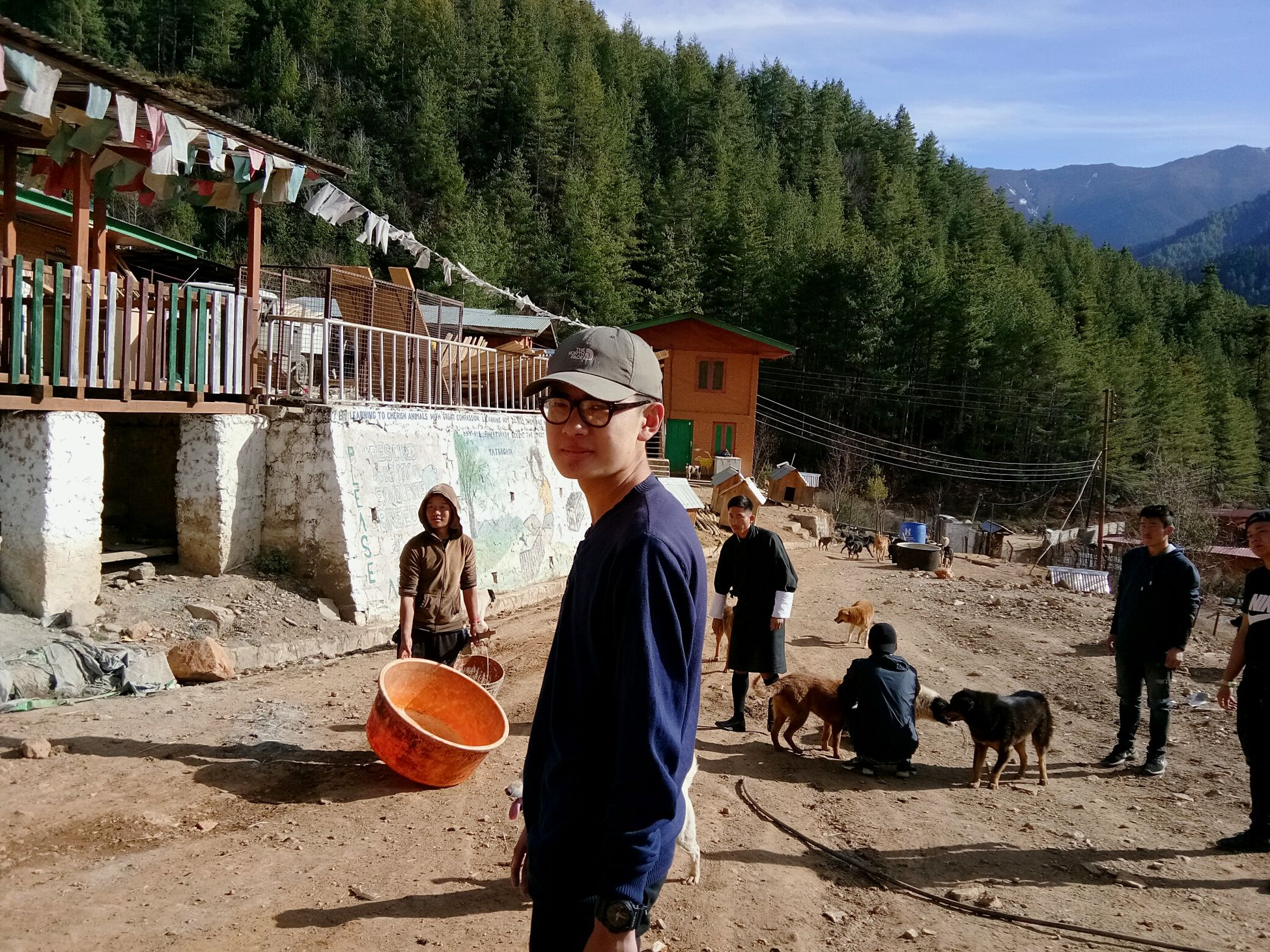When doing something, do it with all your heart. First Eyeem Photo Bhutan Bhutanese Boy Mountain Dogs Landofhappiness