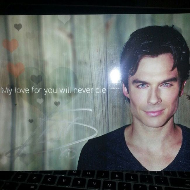 When you get a signed valentine from Iansomerhalder CelebCrush DamnBoy Youisfine marryme