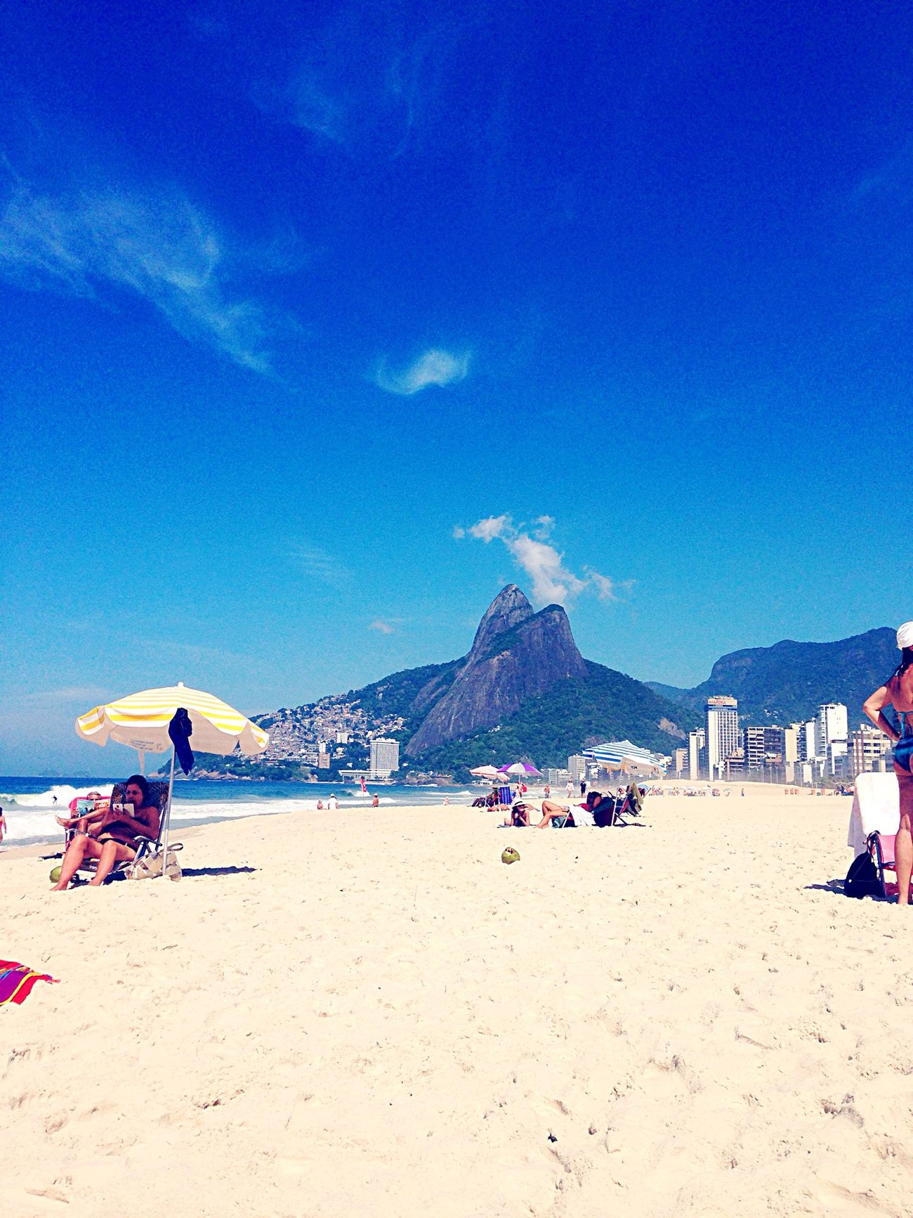 Riodejaneiro Beach Hello World Summer Sunny Day Carioca