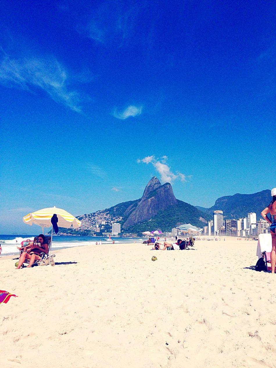 Riodejaneiro Beach Hello World Summer Sunny Day Carioca