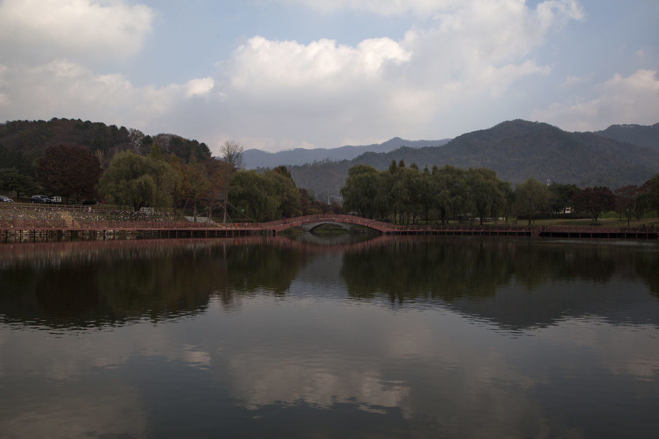 Euiamho, Jangsugun, Jeonlabukdo, South Korea Arch Arrival Astronomy Autumn Autumn Colors Bridge - Man Made Structure Cloud Fall Fall Beauty Galaxy Lake Lake Side Landscape Mountain Nature No People Outdoors Reflection Reflection Sky Travel Destinations Water