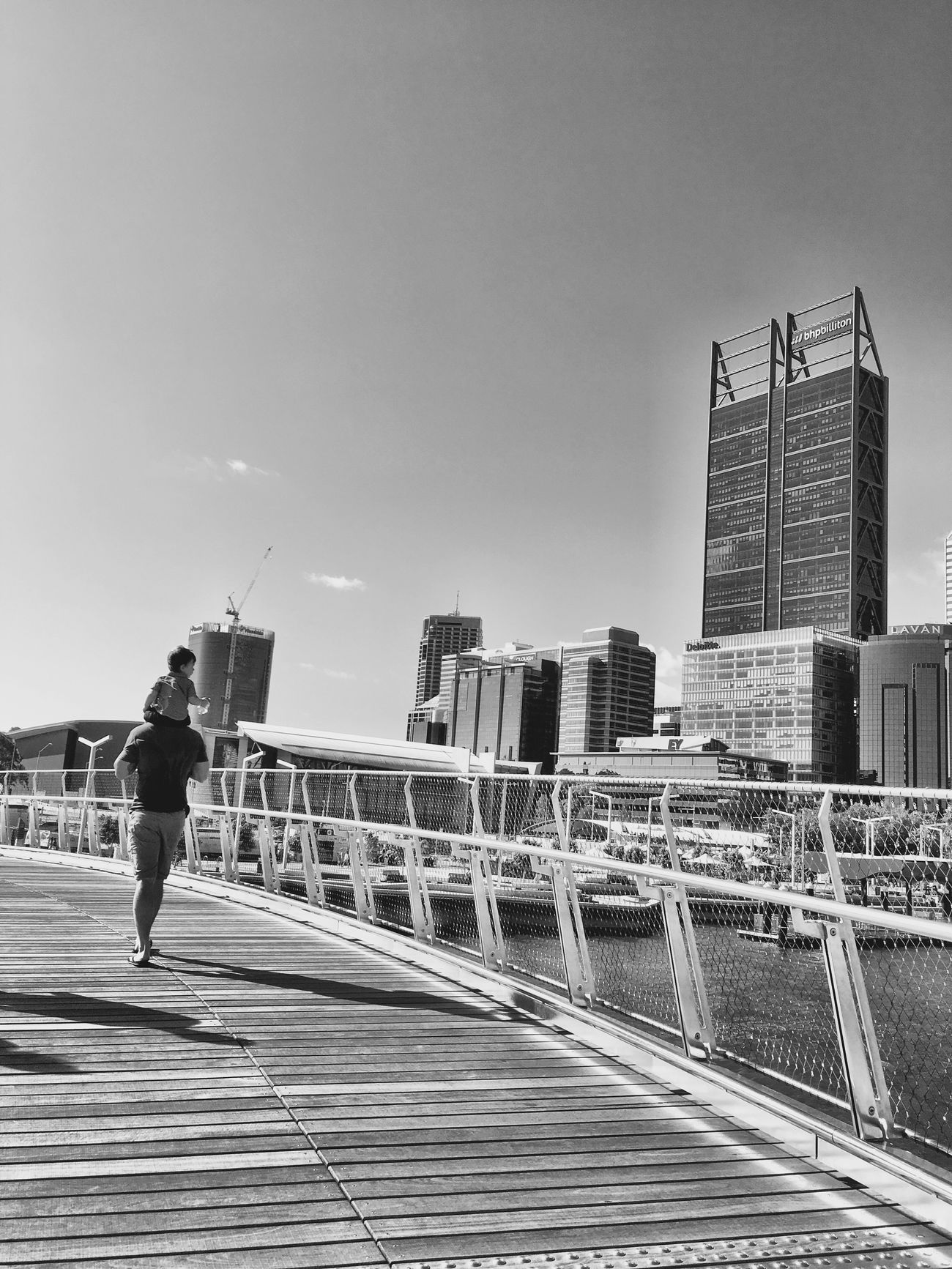 Bridge City Skyscraper Elizabeth Quay Blackandwhite