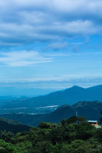 Beauty In Nature Mountain Sky Tranquil Scene Tranquility Cloud - Sky Blue Landscape Village Jayaque ElSalvador  Elsalvadorimpresionante EyeEmNewHere