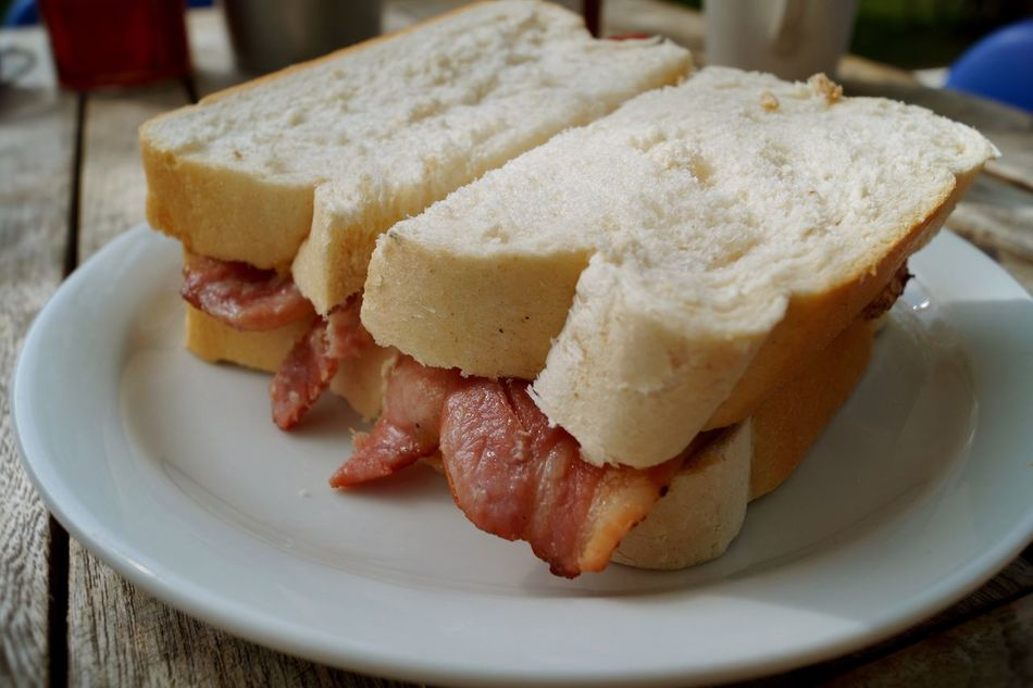 Bacon! Bacon Sandwich Sandwiches Sandwich Food Breakfast Bacon Roll Food Porn Lunch Eat Eating Ready-to-eat Serving Size Breaktime Indulgence Selective Focus Unhealthy Eating Unhealthy Lifestyle Temptation Meal No People Stuffed Close-up