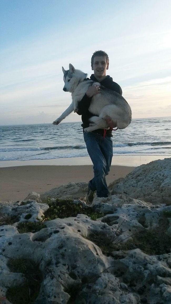 Beach Lapalmyre France Mylove Dog Beautiful Nature Sun ! ?