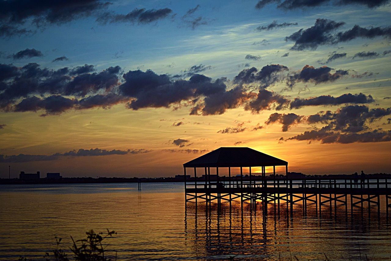 Indialantic, FL Tonight's Sunset My View Taking Photos Landscape_Collection What I See Hello World Silhouette Water Reflections Indialantic, FL Pier Pier Fishing Pier River Enjoying Life Florida Sunset Sun Going Down Nature On Your Doorstep Nikon D3300 The Essence Of Summer