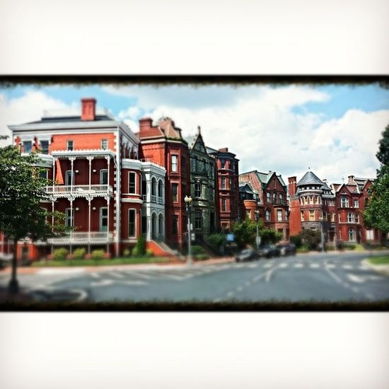 Some of the beautiful row house`s. Logancircle DC Historical Rowhouses district