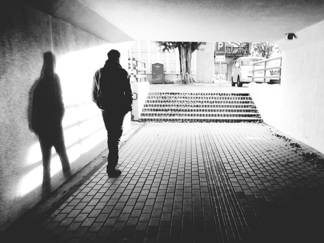 In the tonnel Tonnel Walk Walking Around Way Of Life Lithuania Man Walking