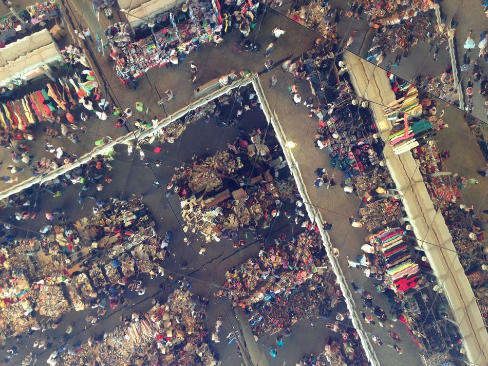 Aerial View B Birds Eye View. Bric à Brac Business Business Finance And Industry Ceiling Reflection Commerce Commercial Dock Crowd Day From Above  High Angle View Large Group Of People Mar Mirror Reflection People Reflection Rubbish Stadium Suburban Mar Weekend Market