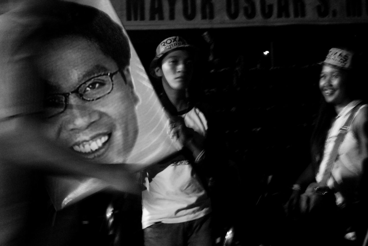 Blurred Motion Confidence  Front View Looking At Camera Political Political Street Art Real People Streetphoto_bw Streetphotography Young Adult Eyeem Philippines