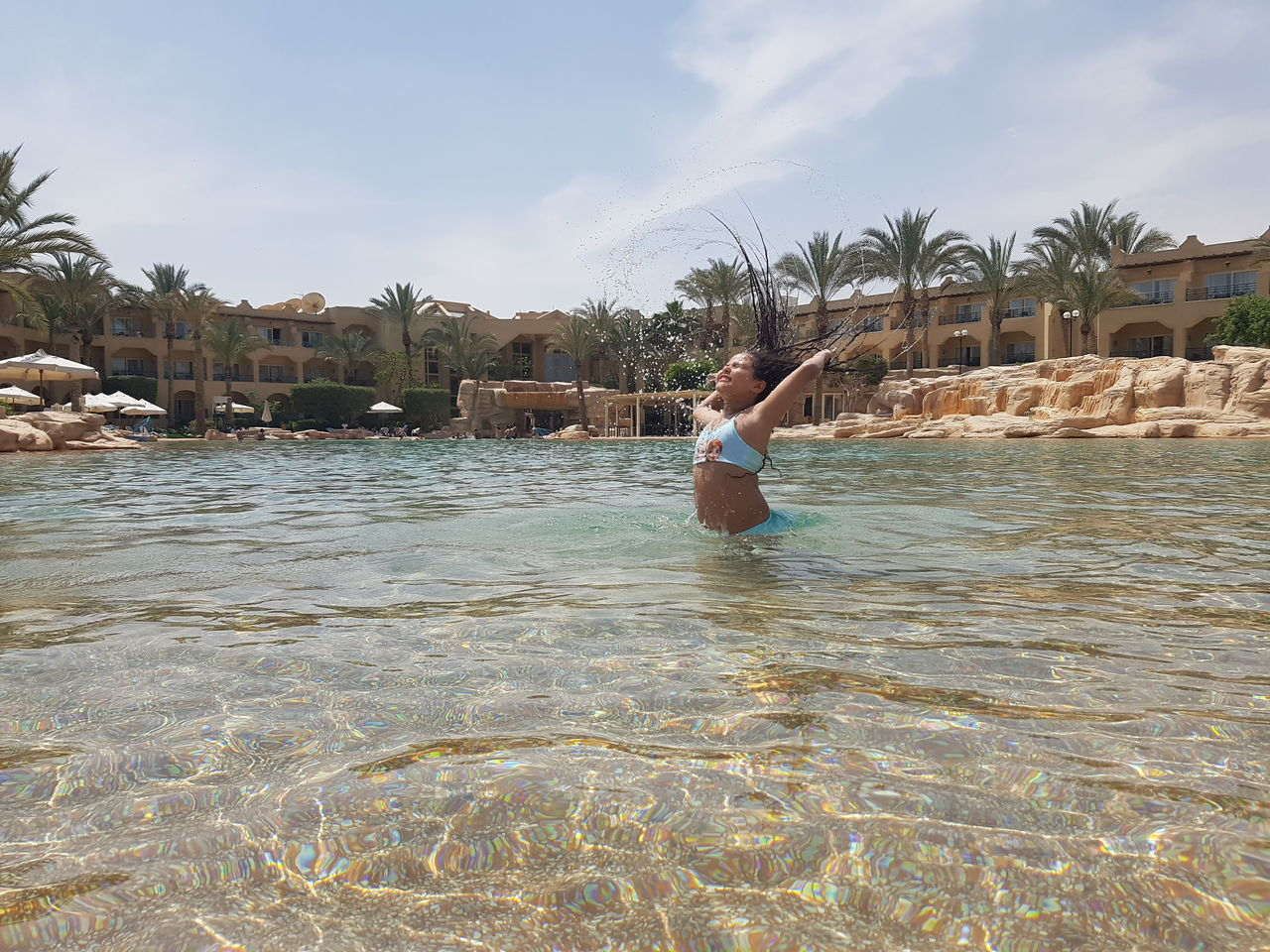 Water Fun Summer Vacations Girls Child Pool Time Sokhna , Egypt Stella De Mary