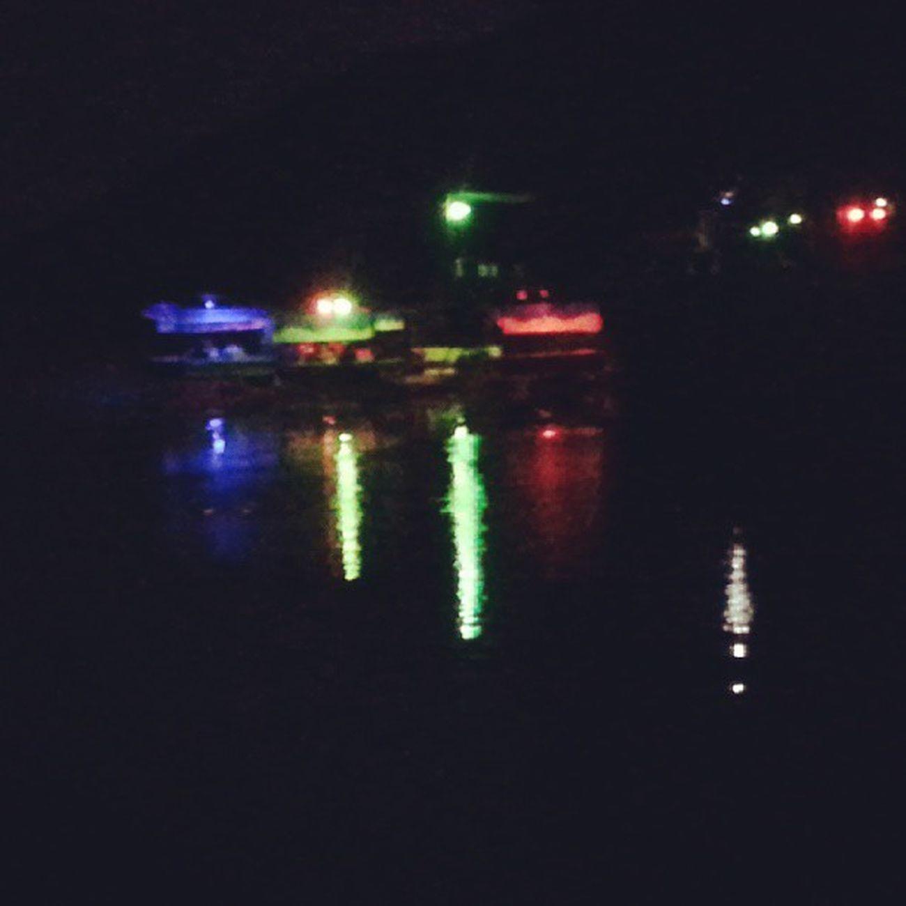 Night restaurants over the river..