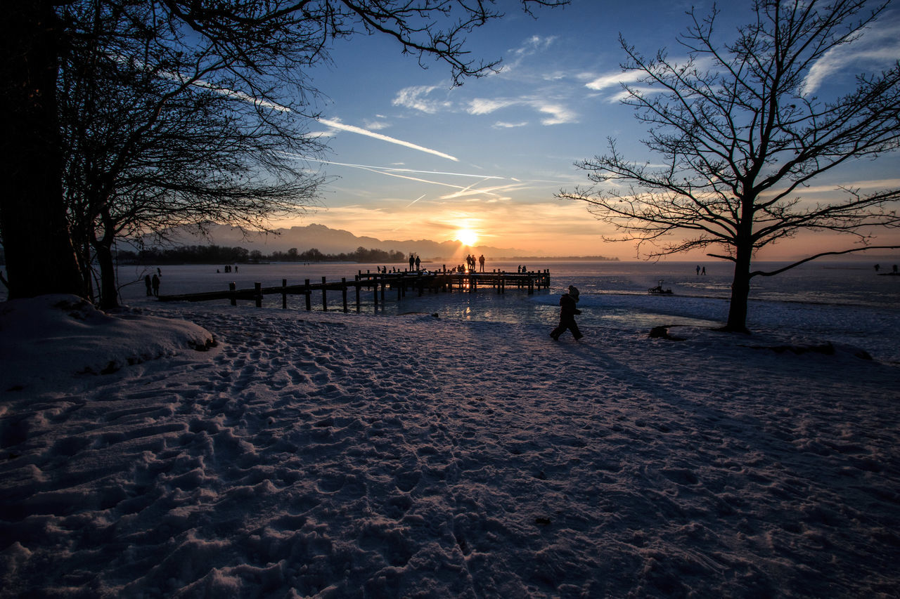 Beach Beauty In Nature Cloud - Sky Day Frozen Lake Lake Lake View Landscape Nature No People Outdoors People Pier Scenics Sky Snow Sunset Tree Water EyeEm Best Shots The Great Outdoors With Adobe TheGreatOutdoors EyeEm Nature Lover Winter