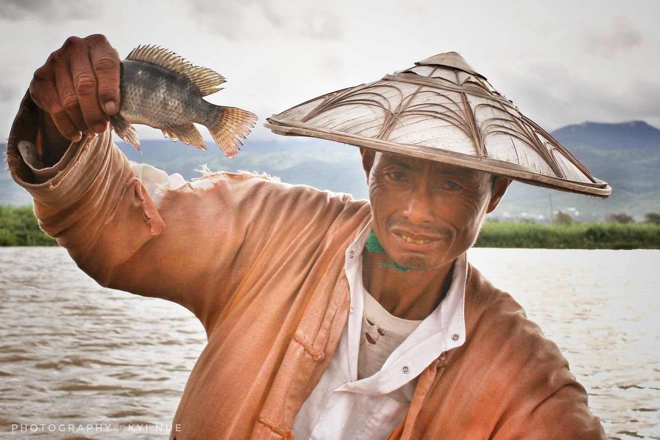 Fisherman Travel Photography One Man Only Burma Photography Portrait Portrait Of A Man  Shan State Innlaylake Photography© Kyi Nue
